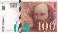 100 франков 1997 год