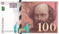 100 франков 1998 год