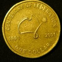 1 доллар 2001 год  Столетие Федерации