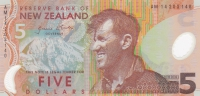 5 долларов 1999-2014 год Новая Зеландия