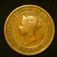 1 цент 1870 год Цейлон