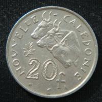 20 франков 1972 год Новая Каледония