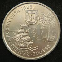 200 эскудо 1998 год Португалия  Путешествие Васко да Гамы в Индию 1498 года - Южная Африка, Наталь