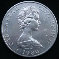 1 крона 1980 год Гибралтар 175 лет со дня смерти Горацио Нельсона