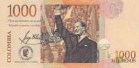 1000 песо 2016 год Колумбия