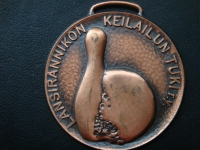 Спортивная медаль Боулинг 1995 год