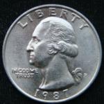 1\4 доллара 1987 год