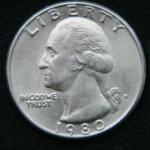 1\4 доллара 1980 год