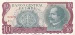 10 эскудо 1967 год Чили