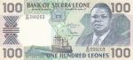 100 леоне 1999 год Сьерра-Леоне