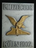 Плакета 1902 год Полицейский хор Кёльн