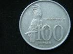 100 рупий 1999 год Индонезия