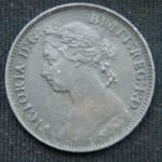 1 фартинг 1881 год  H