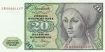 20 марок 1980 год ФРГ (с надписью)