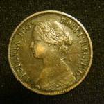 1 фартинг 1866  год