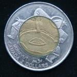 2 доллара 1999 год Канада