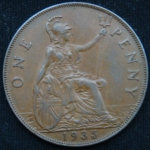 1 пенни 1935 год