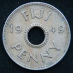 1 пенни 1949 год Фиджи