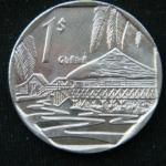 1 песо 2007 год КУБА Курорт Гуама