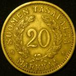 20 марок 1935 год  Финляндия