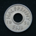 1\2 пенни 1951 год ФИДЖИ