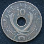 10 центов 1933 год  Британская Восточная Африка