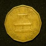 3 пенса 1960 год Фиджи