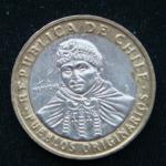 100 песо 2008 год Чили