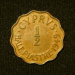 1\2 пиастра 1949 год Кипр