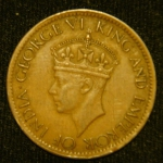 1 цент 1942 год Цейлон
