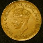 1 цент 1943 год Цейлон