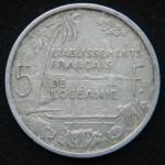 5 франков 1952 год Французская Океания