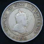 1\2 пенни 1906 год Ямайка