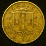 1 пенни 1940 год Ямайка