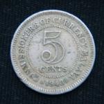 5 центов 1948 год Малайя