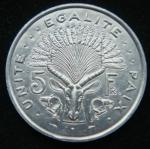 5 франков 1991 год Джибути
