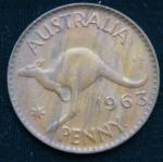 1 пенни 1963 год