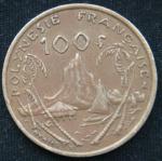 100 франков 1999 год Французская Полинезия