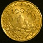 100 франков 2003 год Французская Полинезия