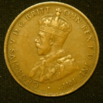 1 пенни 1924 год Австралия
