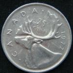 25 центов 1977 год Канада