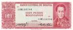 100 песо 1962 год  Боливия