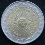 1 песо 2013 год Аргентина 200 лет первой национальной монете