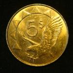 5 долларов 2012 год Намибия