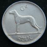 6 пенсов 1939 год Ирландия
