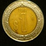 1 песо 2009 год Мексика