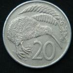 20 центов 1982 год Новая Зеландия