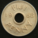 1 пенни 1968 год Фиджи