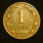 1 цент 1882 год Нидерланды