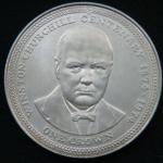 1 крона 1974 год Остров Мэн 100 лет со дня рождения Уинстона Черчилля